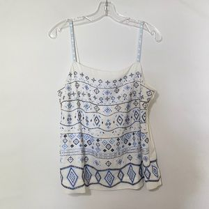 White House Black Market Beaded Embroidered Cami